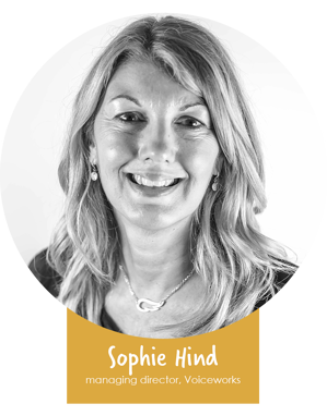 sophie headshot name badge